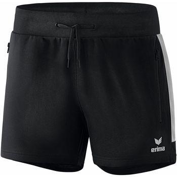 Kleidung Damen Shorts / Bermudas Erima Short femme  Worker Squad noir/blanc
