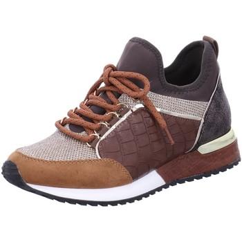 Schuhe Damen Sneaker Low La Strada Schnuerschuhe NV,Micro Tan 1900356 4526 braun