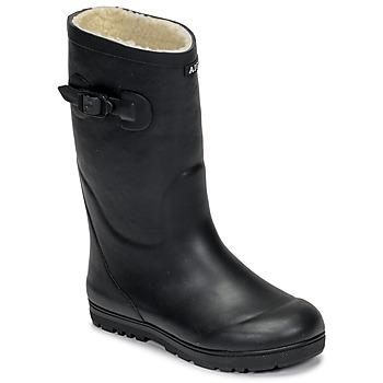 Schuhe Kinder Gummistiefel Aigle WOODY POP FUR Marine