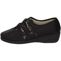 Schuhe Damen Hausschuhe Davema 7256 SCHWARZ