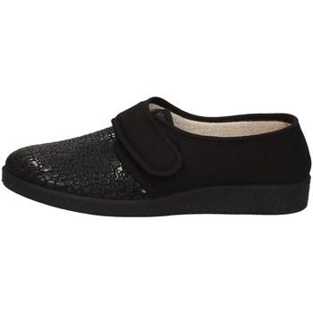 Schuhe Damen Hausschuhe Davema 393 D SCHWARZ