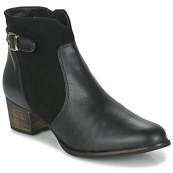 Schuhe Damen Low Boots So Size SERELLE Schwarz