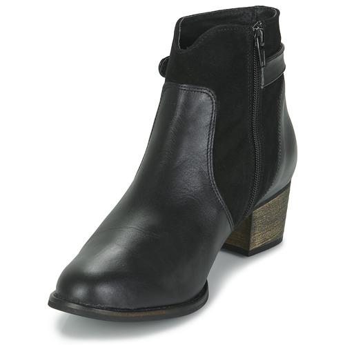So Size SERELLE Schwarz  Schuhe Low Boots Damen 125