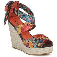 Schuhe Damen Sandalen / Sandaletten Moony Mood FIRNIL Schwarz / Multifarben