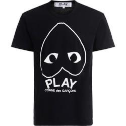 Kleidung Herren T-Shirts Comme Des Garcons T-Shirt  in schwarzer Baumwolle mit Schwarz