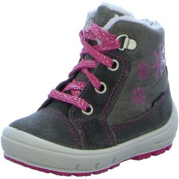 Schuhe Mädchen Schneestiefel Superfit Schnuerstiefel Stiefelette Leder \ GROOVY 9307-2000 grau