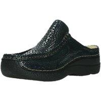 Schuhe Damen Pantoletten / Clogs Wolky Pantoletten Roll Slide 620244-800 blau