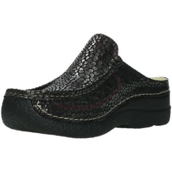 Schuhe Damen Pantoletten / Clogs Wolky Pantoletten Roll Slide 620244-510 schwarz