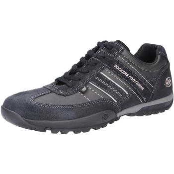 Schuhe Herren Sneaker Low Dockers Herren Schnürschuh schwarz