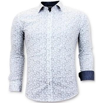 Kleidung Herren Langärmelige Hemden Tony Backer Italienisch Hemd Slim Weiß