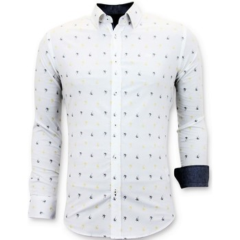 Kleidung Herren Langärmelige Hemden Tony Backer Italienische Der Slim Herrren Weiß