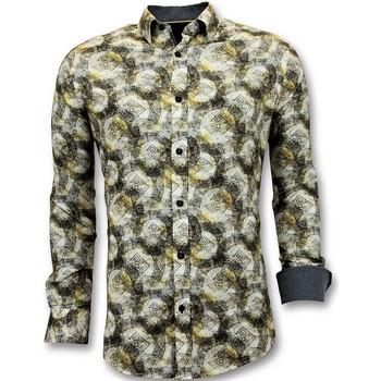 Kleidung Herren Langärmelige Hemden Tony Backer Drucken Gelb