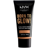 Beauty Make-up & Foundation  Nyx Born To Glow Naturally Radiant Foundation camel 30 ml