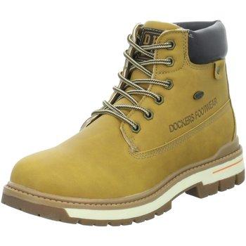 Schuhe Jungen Boots Dockers by Gerli Schnuerstiefel Dockers Schn?rboot golden tan 45TG701-637910 gelb