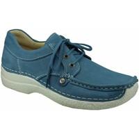 Schuhe Damen Slipper Wolky Schnuerschuhe 0628911856 blau