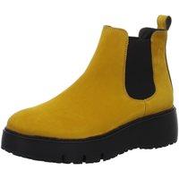 Schuhe Damen Low Boots Paul Green Stiefeletten 9821 9821-057 gelb