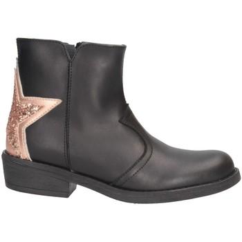 Schuhe Mädchen Boots Dianetti Made In Italy I9889 Texano Kind Schwarz / Nackt Schwarz / Nackt