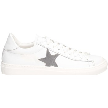Schuhe Herren Sneaker Low Made In Italia F7125 Sneaker Mann Weiß grau Weiß grau