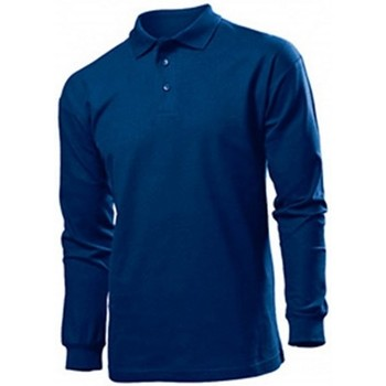 Kleidung Herren Langärmelige Polohemden Stedman  Marineblau