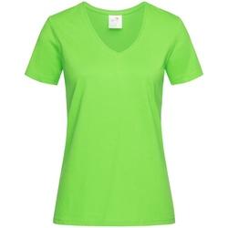 Kleidung Damen T-Shirts Stedman  Kiwigrün