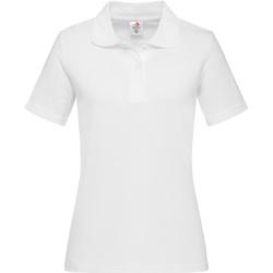 Kleidung Herren Langärmelige Polohemden Stedman  Weiß