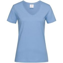 Kleidung Damen T-Shirts Stedman  Hellblau