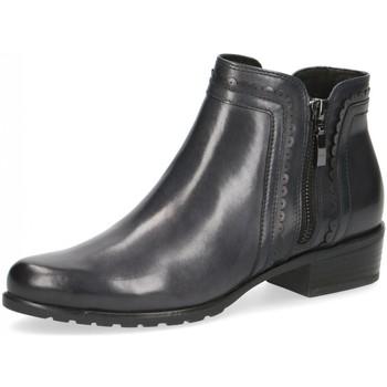 Schuhe Damen Low Boots Caprice Stiefeletten 9-9-25312-25 9-9-25312-25 blau