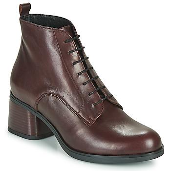 Schuhe Damen Low Boots André EADBERT Bordeaux