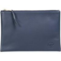 Taschen Handtasche Herschel Network Large Leather Navy Pebbled Leather