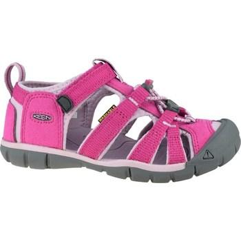 Schuhe Kinder Sportliche Sandalen Keen Seacamp II Cnx JR Grau, Rosa