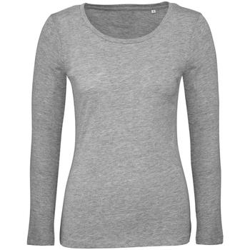 Kleidung Damen Langarmshirts B And C TW071 Sportgrau