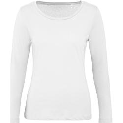 Kleidung Damen Langarmshirts B And C TW071 Weiß