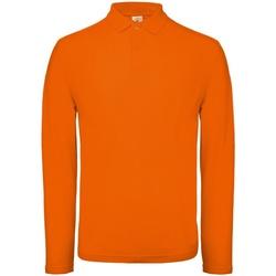 Kleidung Herren Langärmelige Polohemden B And C PUI12 Orange