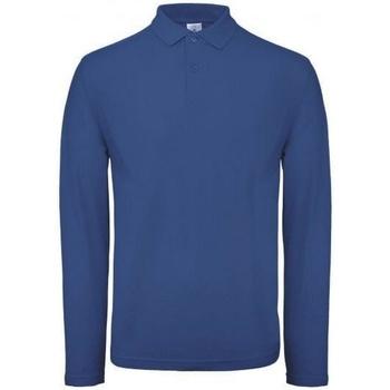 Kleidung Herren Langärmelige Polohemden B And C PUI12 Regal Blau