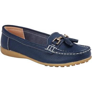 Schuhe Damen Slipper Boulevard  Marineblau