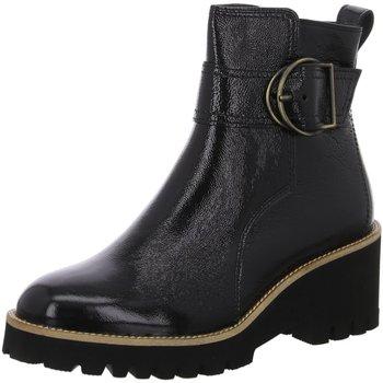 Schuhe Damen Boots Paul Green Stiefeletten 0067-9763-037 9763-037 schwarz