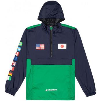 Kleidung Herren Windjacken Huf Jacket flags anorak Blau