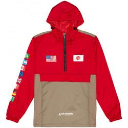 Kleidung Herren Windjacken Huf Jacket flags anorak Rot