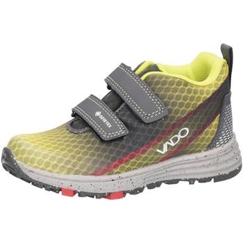 Schuhe Jungen Sneaker Low Vado Klettstiefel Gore Tex neon Gelb Grau Velour 23307-705 gelb