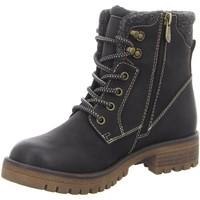 Schuhe Damen Boots Tom Tailor Stiefeletten Schnürstiefelette Warmfutter 9091002 schwarz