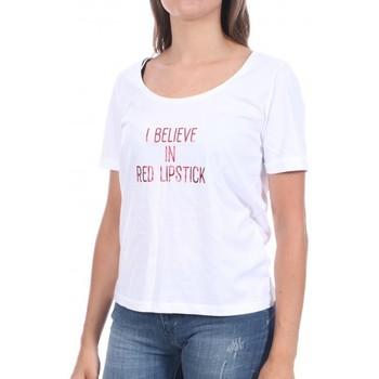 Kleidung Damen T-Shirts Pieces 17102896 Weiss