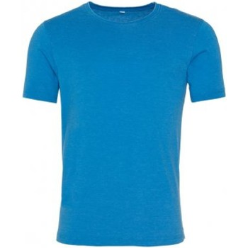 Kleidung Herren T-Shirts Awdis JT099 Wash Saphir Blau
