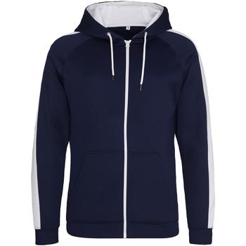 Kleidung Herren Sweatshirts Awdis JH066 Oxford Dunkelblau/Arctic Weiß