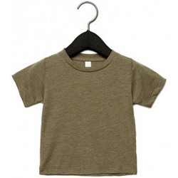 Kleidung Kinder T-Shirts Canvas CA3413T Olive Triblend