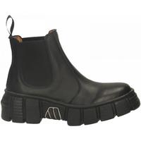 Schuhe Damen Boots New Rock M-WALL007ASA-C1 LUXOR nero