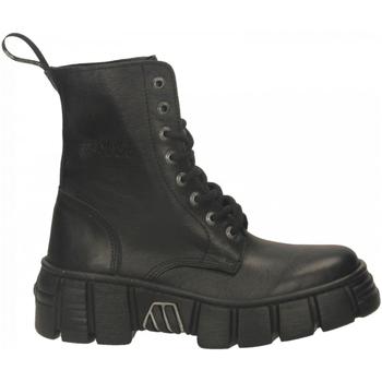 Schuhe Damen Boots New Rock M-WALL026NBASA-C2 LUXOR nero