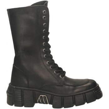 Schuhe Damen Boots New Rock M-WALL029N-C1 ITALI nero