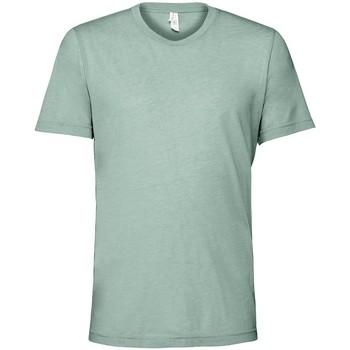 Kleidung T-Shirts Bella + Canvas CV3413 Blaugrün