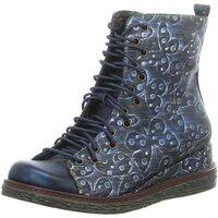 Schuhe Damen Boots Laura Vita Stiefeletten ERCNAULTO 32 BLEU blau