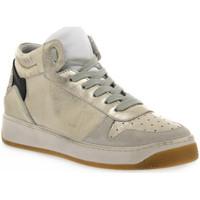 Schuhe Damen Multisportschuhe At Go GO 584 VELOUR GHIACCIO Bianco